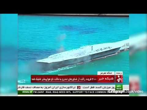 Iran attacks replica US ship in military drill