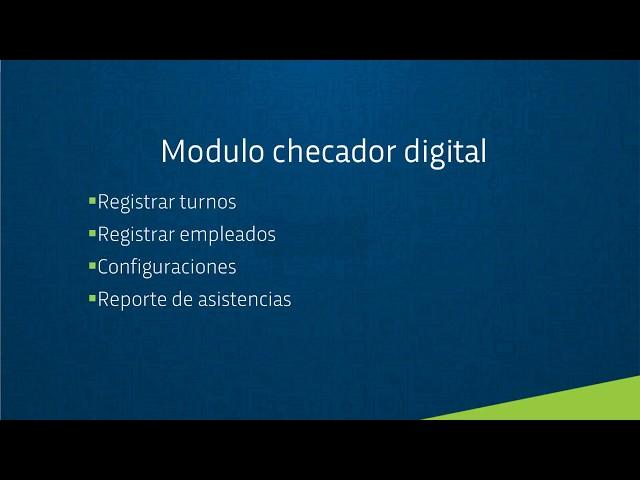 Como funciona el módulo Checador Digital  - Kordata.mx