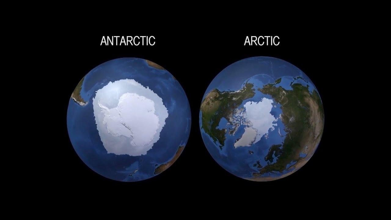 إيه الفرق بين القطب الشمالي والقطب الجنوبي؟