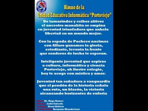 """Himno de la Unidad Educativa Informática """"Portoviejo"""""""