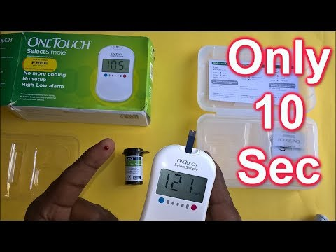how-to-check-blood-glucose-(sugar)-level-using-onetouch-simple-device