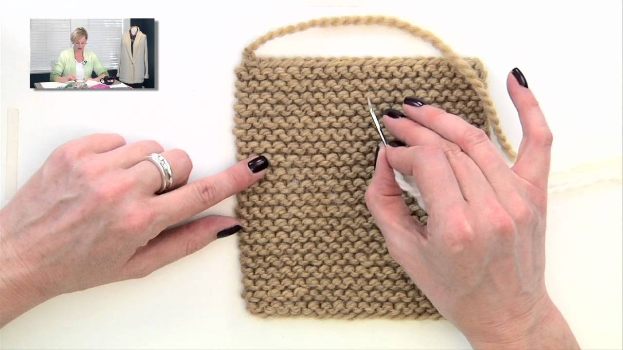 Knitting Help Weaving In Ends In Garter Stitch Youtube