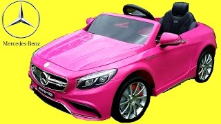 Pink Mercedes S63 AMG Kids Ride On Walkaround | 12V Power Wheels Review Demonstration
