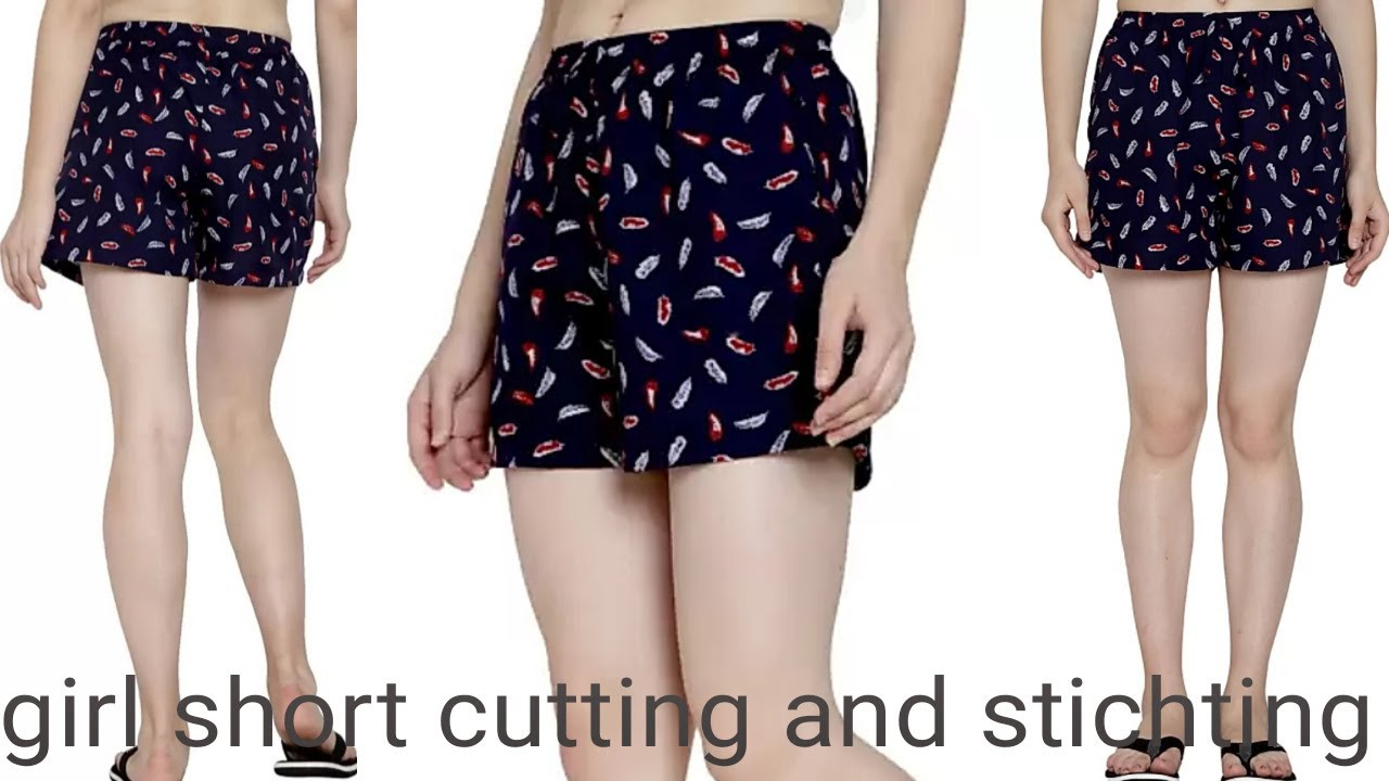 Download girl short cutting and stitching | short pants cutting stitching | Women Regular Shorts