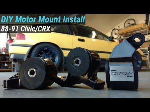 How To Install Motor Mounts - Honda Civic CRX 88-91 (Hasport or OEM)