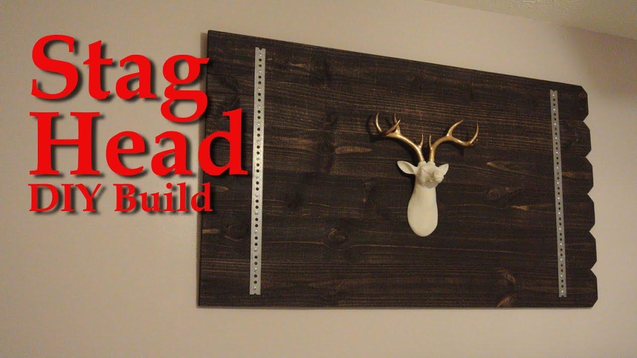 Stag Head Wall Decor Diy Tutorial Youtube