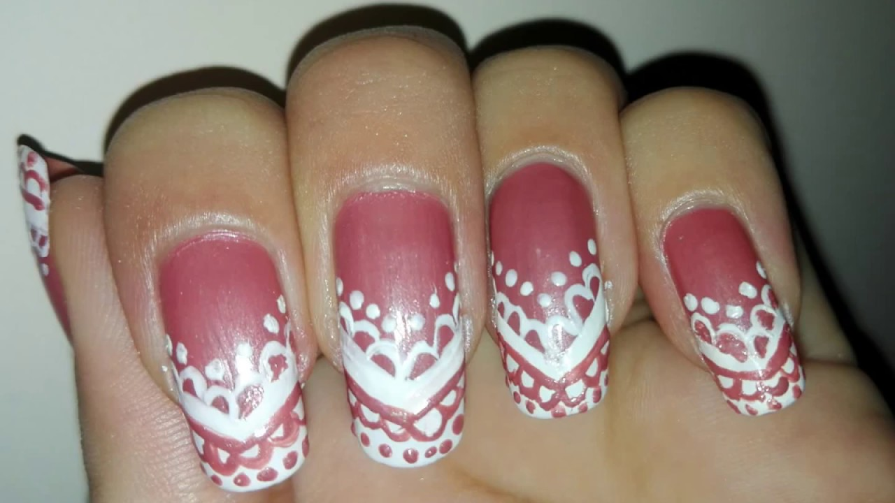Diy Easy Lace Nail Art Tutorial No Tools Pink And White Wedding