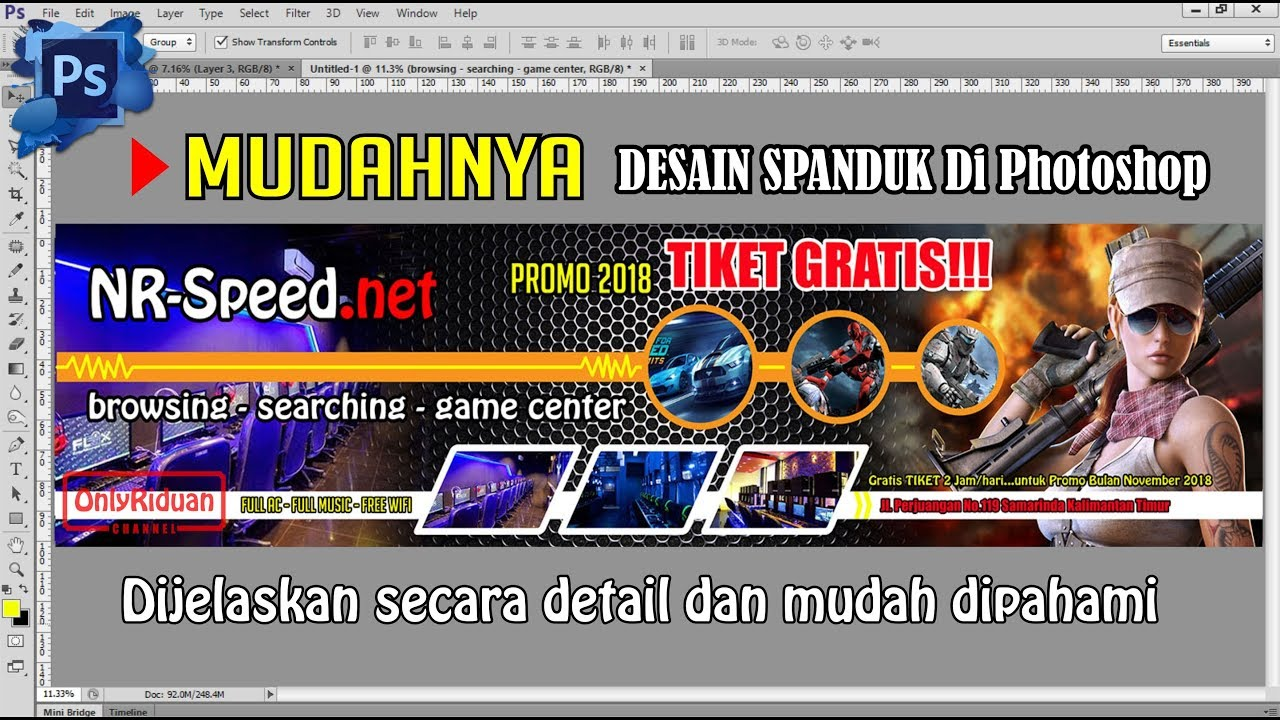 Mudah Desain Spanduk Keren Di Photoshop Banner Design