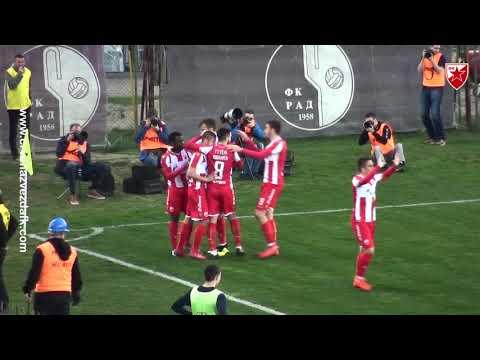 Rad - Crvena zvezda 0:3, highlights