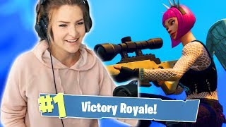INSANE SNIPER PLAYS! 12 KILL GAME (Fortnite: Battle Royale) | KittyPlays
