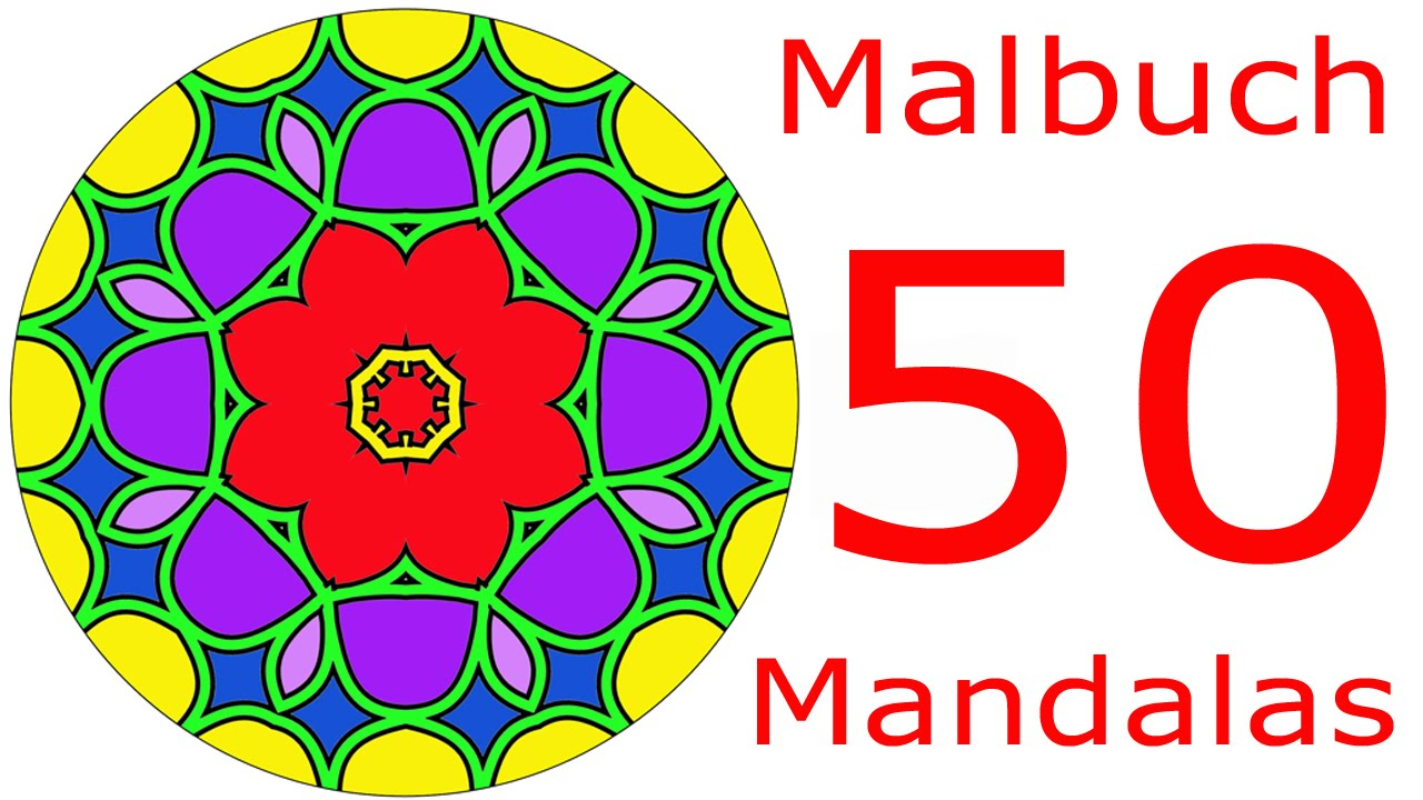 mandalas zum ausmalen 50 mandalas f r erwachsene mandala malbuch youtube. Black Bedroom Furniture Sets. Home Design Ideas
