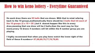 How to win keno lottery - Everytime Guaranteed 2017 This is the Bes...