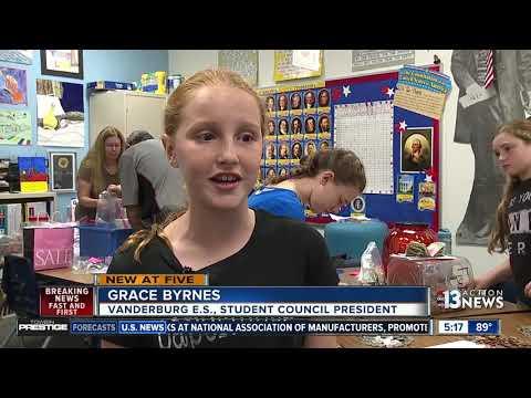 Vanderburg Elementary helps Houston school recover after Hurricane Harvey