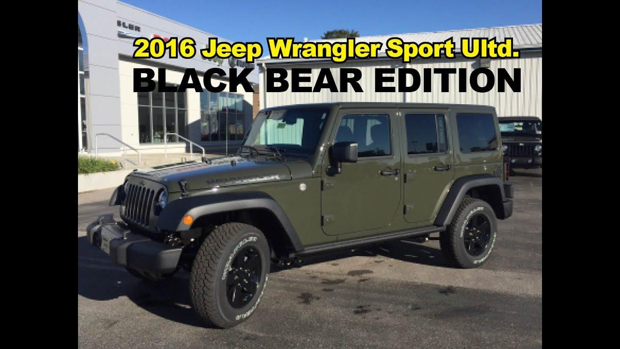 2016 Jeep Wrangler Black Bear Edition John Jones Corydon In