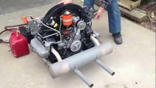 1955 Porsche 356 Pre-A Speedster Super Engine Startup and Run