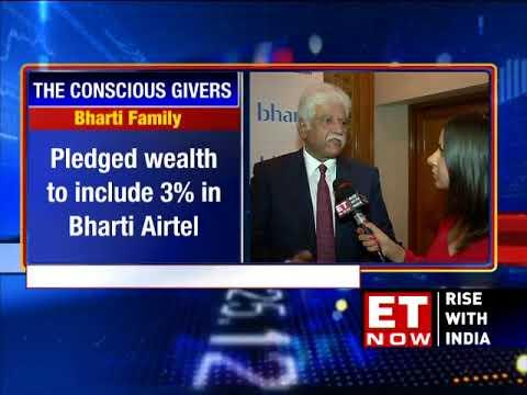 Sunil Bharti Mittal Pledges 10% Of Family Wealth | ET NOW Exclusive