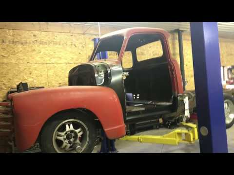 Repeat Drop spindles on the 52 Chevy with s10 frame swap by ChevRod