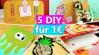 DIY für 1€ | 5 einfache & günstige DIY Ideen zum verschenken und gegen Langeweile deutsch