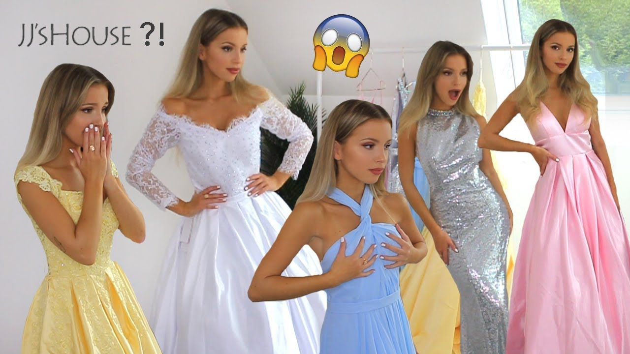 JJSHOUSE REVIEW! PROM & WEDDING DRESS TRY ON!  OMG!!!