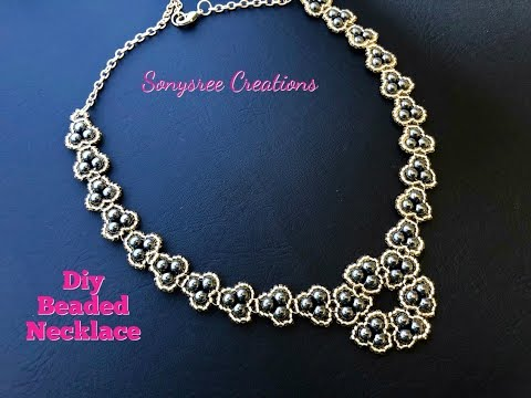 Pretty Beaded Necklace.How to make Beaded Necklace 💞