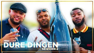 QUCEE, JAYH en HEF drinken DUURSTE CHAMPAGNE OOIT: DURE DINGEN | FIRST