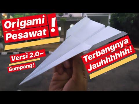 Cara Membuat Origami Pesawat Terbang Bisa Terbang Jauh Versi GAMPANG!!