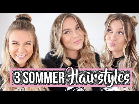 3 super TRENDINGE Sommerfrisuren ☀️ TUTORIAL | Dagi Bee