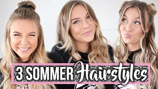 3 super TRENDINGE Sommerfrisuren ☀️ TUTORIAL | Dagi Bee