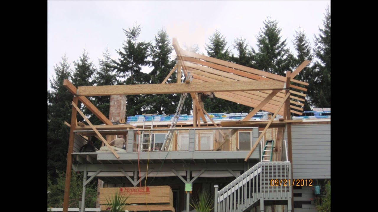 new deck roof project bellevue wa youtube