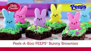 Peek-a-Boo PEEPS® Bunny Brownies | Betty Crocker Recipe