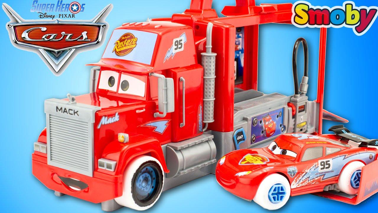 jouet disney cars camion mack truck ice racers atelier. Black Bedroom Furniture Sets. Home Design Ideas