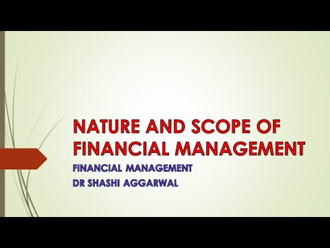 Financial Management (Nature and Scope)