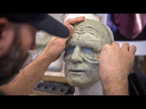 Sculpting the Star Wars Battlefront 2 Messenger Droid Mask