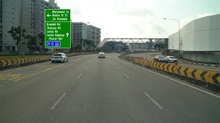 Travel Route from Upper Thomson Road to Lornie Highway