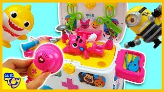 Pinkfong Hospital Toy Play ! Heal the injured Pinkfong! Fun Learning Videos for Kids | WeToy
