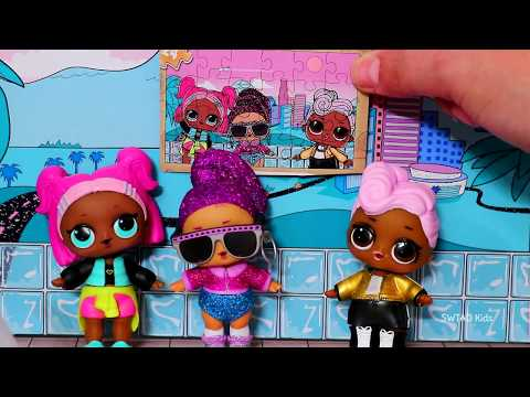LOL Surprise Puzzles and OMG Big Sisters ! Toys and Dolls Fun for Kids | SWTAD