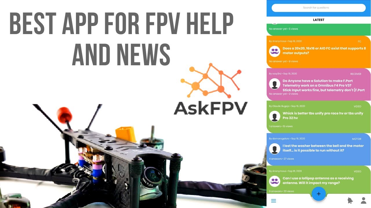 AskFPV APP // Beta Release -- Best Place For FPV Help & more