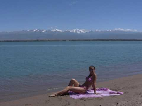 Lake Issyk Kul | Kyrgyzstan |  second largest alpine lake in the world, Tian Shan Mountains