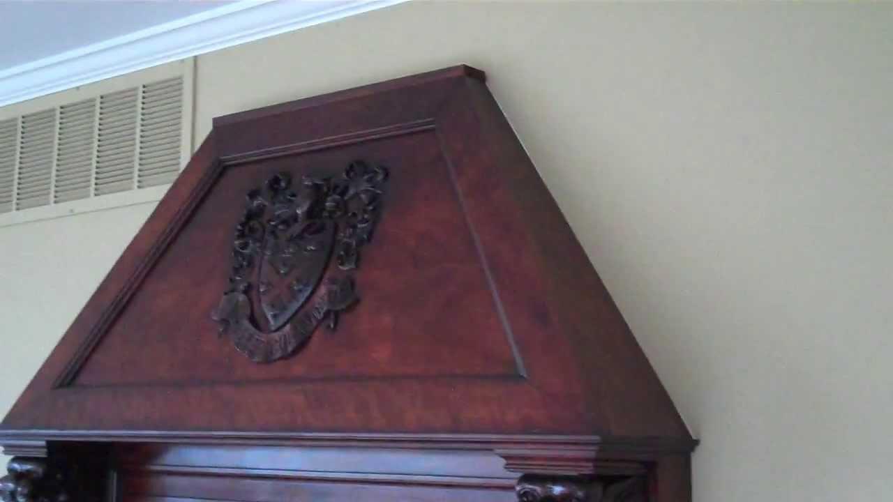 restaining refinishing a fireplace mantle youtube