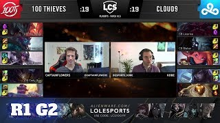 Cloud 9 vs 100 Thieves - Game 2 | Round 1 PlayOffs S10 LCS Spring 2020 | C9 vs 100 G2