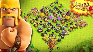 CLASH WITHOUT WALLS!  -  Clash of Clans -  MY TH7 HAS NO WALLS! GOING TO TH8   UPGRADING!