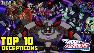 Top 10 Transformers Animated DECEPTICONS! - Comodin Cam