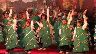 Cute Sunday School children perform on the song - Am the happiest Christmas tree