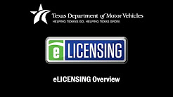 Texas Department of Motor Vehicles - eLICENSING
