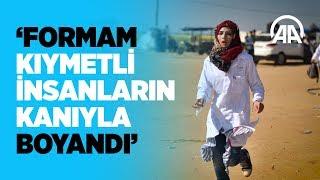 Gönüllü sağlıkçı Rezzan, Filistinli yaralılara şifa dağıtıyor