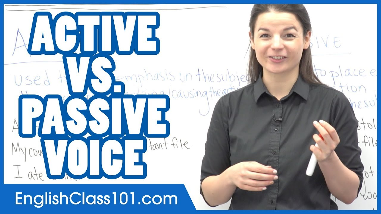Active Voice and Passive Voice - Learn English Grammar
