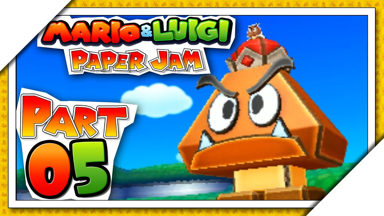 Papercraft Mario & Luigi: Paper Jam - Part 5 | 1st Papercraft Battle! [U.S. Version Gameplay Walkthrough]
