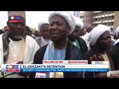 SECURITY OPERATIVES FOIL SHIITE PROTESTERS BID TO ENTER VILLA...watch & share...!