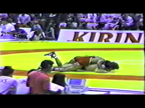1990 Senior World Championships: 52 kg Bronze Aslan Agaev (USSR) vs. Zeke Jones (USA)