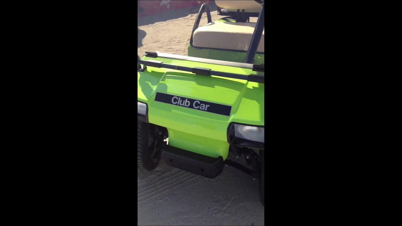Club Car Golf Cart New Paint Wheels And Tires 4 Seater Youtube